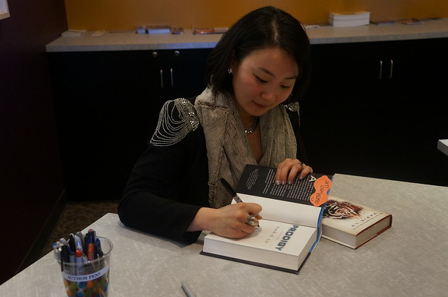 Marie Lu's CHAMPION Signing