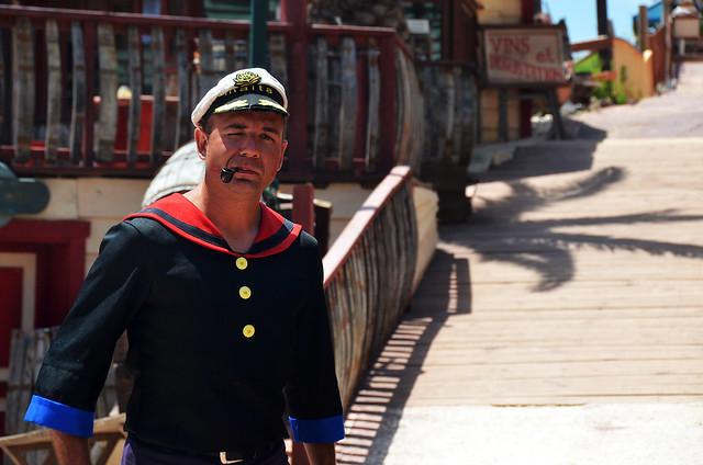 Popeye en Malta, en el pueblo del Popeye Village
