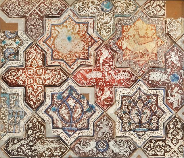 panneau en carreaux de c ramique mus e d 39 art islamique b