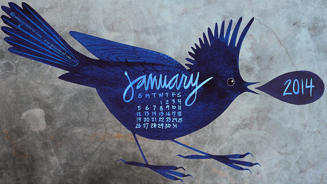 January Desktop Calendar