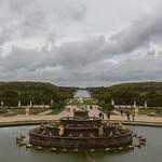 Overlooking the gardens of Versailles