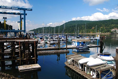 Marina in Port Moody, Greater Vancouver, British Columbia, Canada