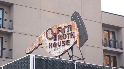 #SnapShot | The Clam Broth House Sign In #Hoboken #NJ