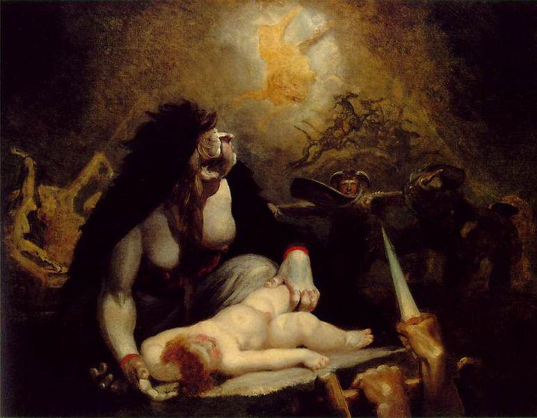6. Detalle de un Aquelarre. Obra de Henry Fuseli. 1741-1825