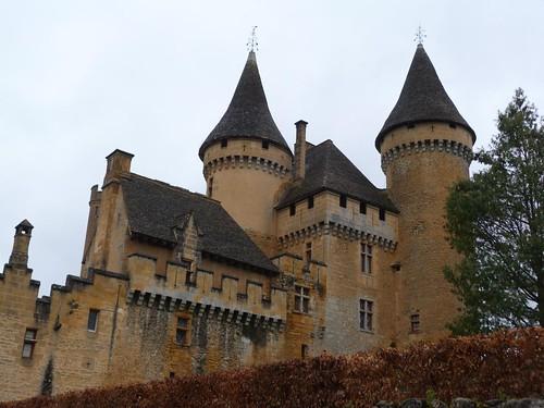 Foto del castillo de Puymartin (Périgord, Francia)