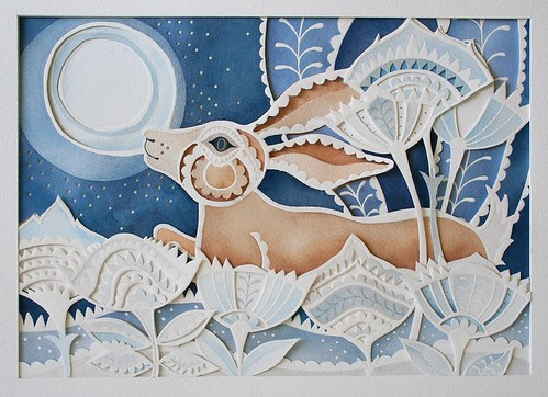 paper-cutting-prancing-hare