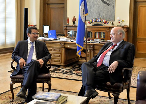OAS Secretary General Meets with Secretary General of SICA