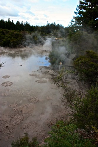 Wai-O-Tapu Thermal Track mud pool!