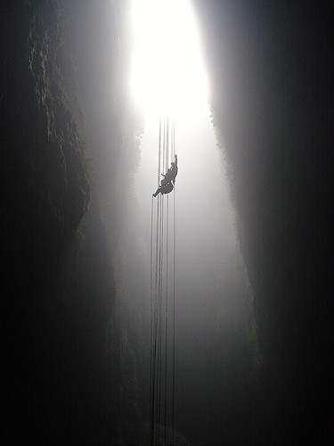 "Rappelling into the ""Lost World"""