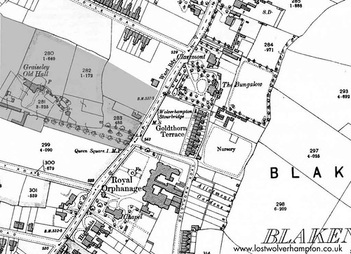 Blakenhall Map - The Royal School purchasers. The adjoining  Graisley Property in 1930.