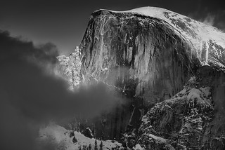 Half Dome at sunset, Yosemite National Park CA