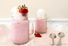 Fresh Strawberry Vanilla Milkshake