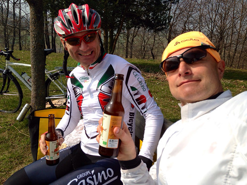 Beer for lunch. Merci Philippe