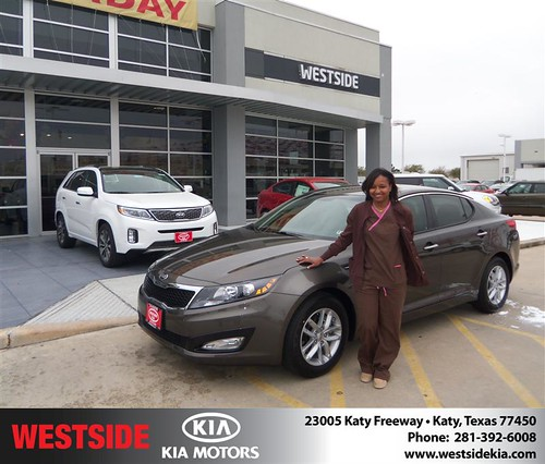 #HappyAnniversary to Brenda L Ziboh on your 2013 #Kia #Optima from Suliveras Wilfredo at Westside Kia! by Westside KIA