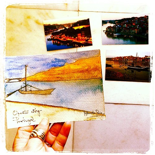 Handmade watercolor postcard ... By me!! @manuworld. For somebody special!! by *manuworld*