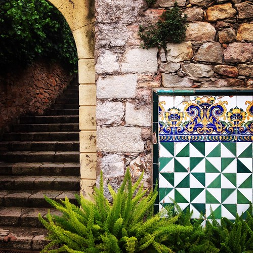 Tiles at Jardins de Laribal Barcelona