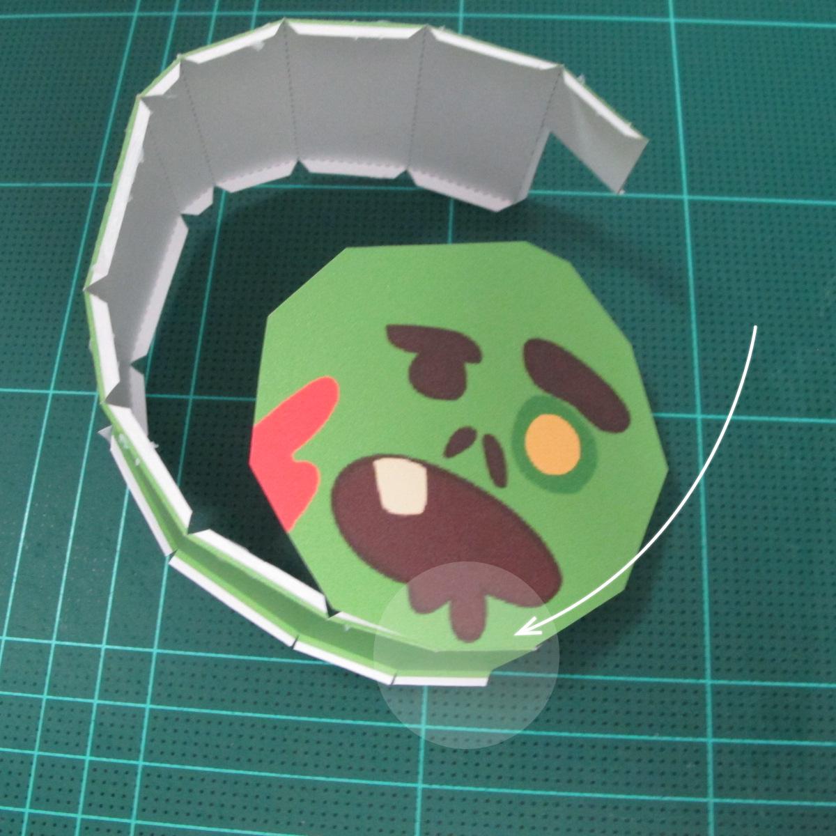 วิธีทำโมเดลกระดาษตุ้กตา คุกกี้ รัน คุกกี้รสซอมบี้ (LINE Cookie Run Zombie Cookie Papercraft Model) 002