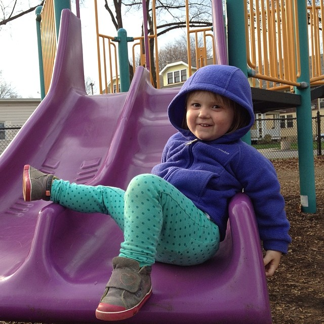 Happy kiddo at the playground!