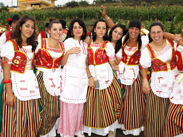 local girls in traditional costume, Benijos, Tenerife