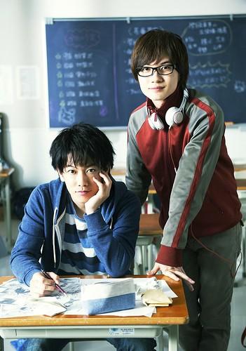 140507(1) - 從前世「劍心×宗次郎」變今生「最高+秋人」、真人電影《バクマン。》(爆漫王。)宣布2015年上映!