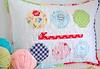 Crochet Hook and Yarn Pillow