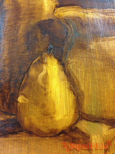 First Oil Painting by Squibble - Pear Closeup