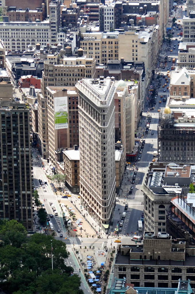 Flatiron building, view from the Empire State Building NYC