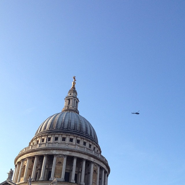 6:45am - St Paul's and the police helicopter #London #morning