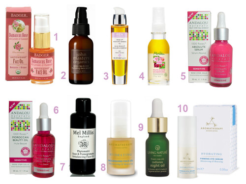 Rose Oil Serums and Oils