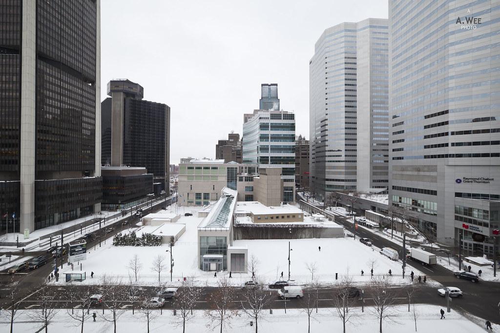 Square Victoria in winter