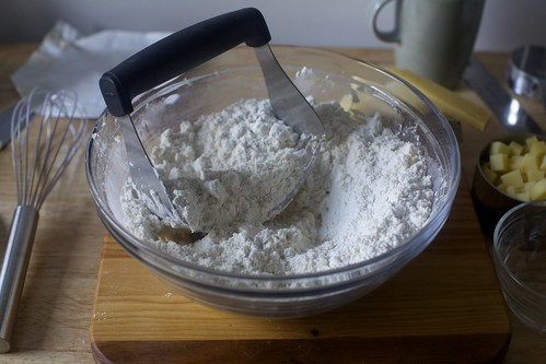 butter into dry ingredients