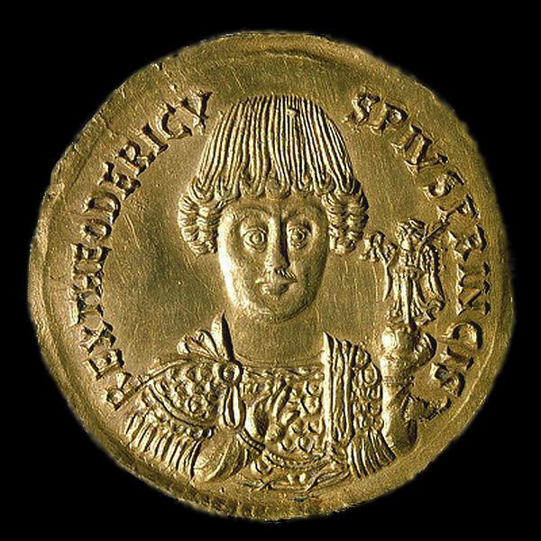 Coin depicting Flavius Theodoricus