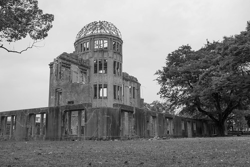 blackandwhite japan landscape memorial ruins war hiroshimabomb hiroshimaken rubble atomicbomb abomb abombdome hiroshimaprefecturalindustrialpromotionhall hiroshimashi