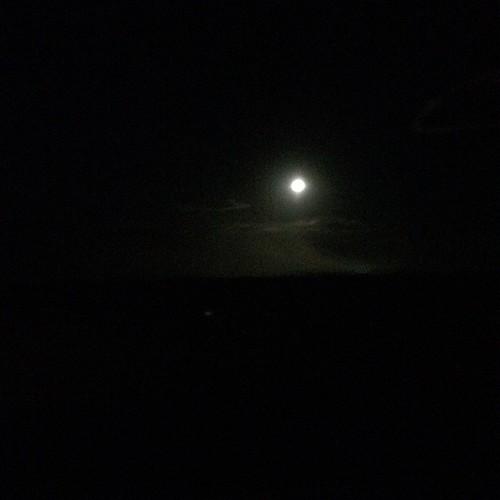 Moon lighting our way.