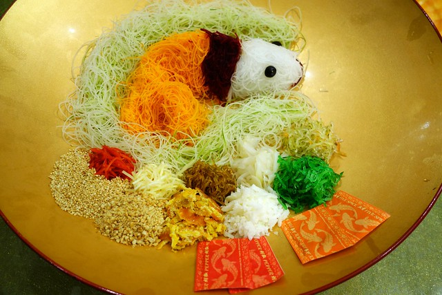 Royal Prosperity Salmon Yu Sheng. Chinese New Year 2015. Royal Pavilion Singapore