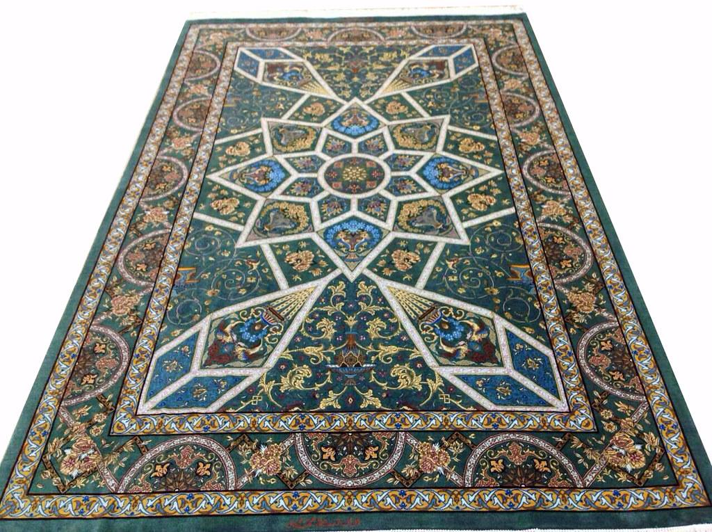 Qum Pure Silk Persian Rug Grand Master Mir Mehdiei 5x7 (3)