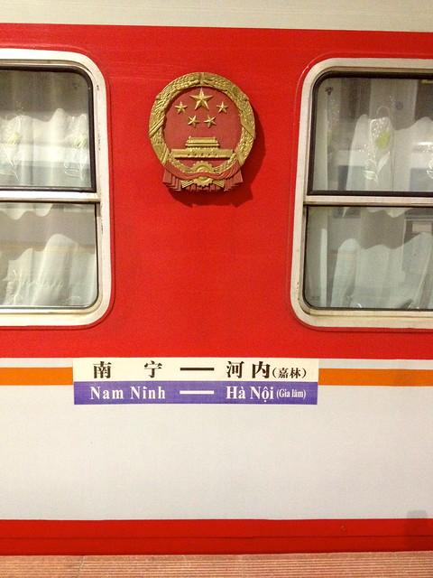 train from Nam Ninh (Nanning, China) to Hanoi, Vietnam