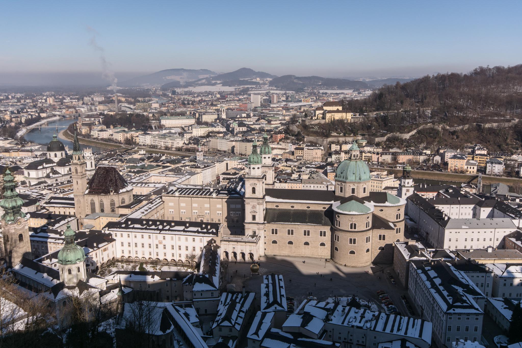 Blick auf die Altstadt von der Hohensalzburg