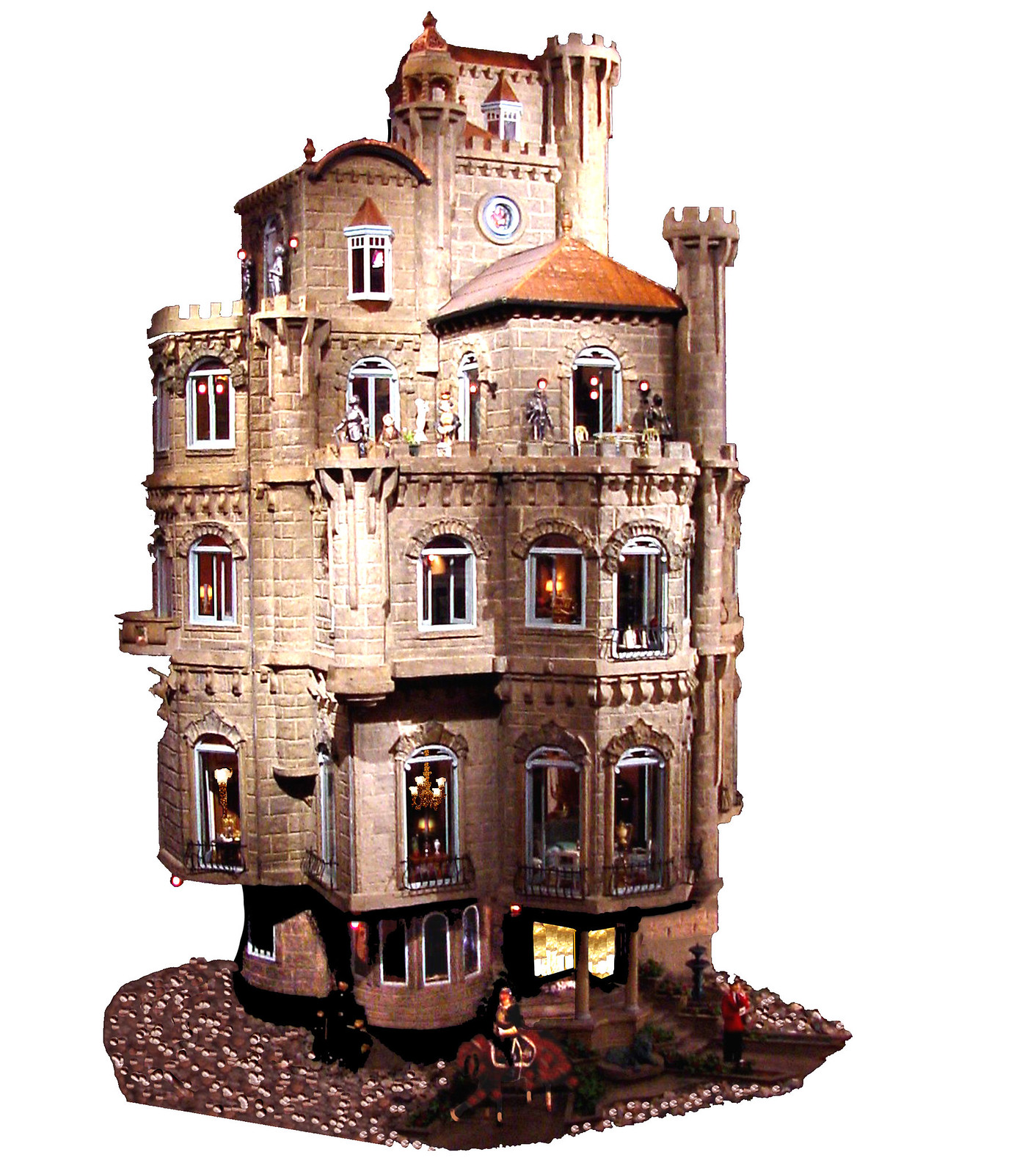Exterior of the Astolat Dollhouse Castle, built between 1976 and 1986 in USA. Credit Dr Michael and Lois Freeman