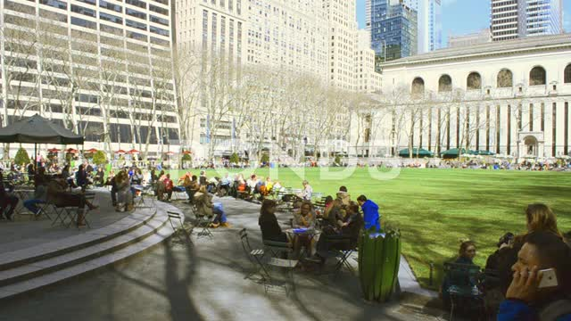 Bryant park of New York in Manhattan. This video is on sale to the address:
