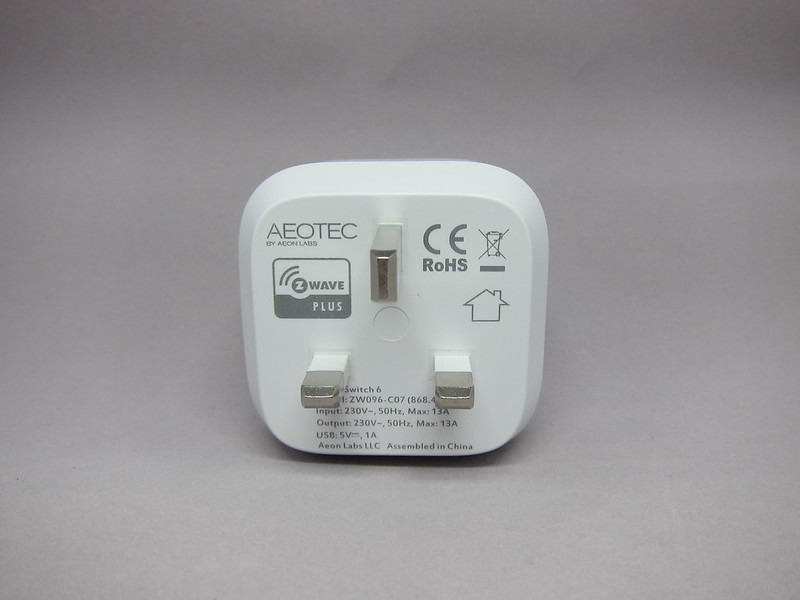 Aeon Labs Aeotec Z-Wave Smart Switch 6 (Gen5) - Box Back