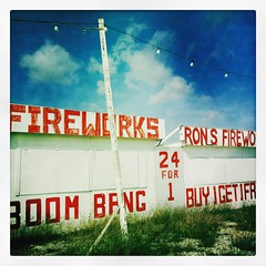 Fireworks Stand 4th July Roanoke Texas 909T