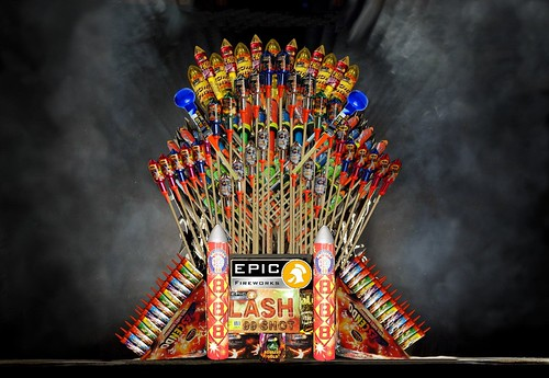 Game of Thrones With Epic Fireworks