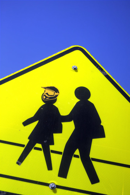 Crosswalk Sign Street Art