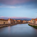 The Pastel Sky of Pisa by Vaidas M