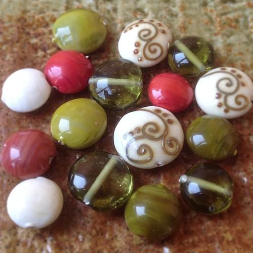 Glass, lampwork, lentils, beads