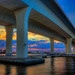 Sunset-at-Roosevelt-Bridge-Stuart-Florida by Captain Kimo