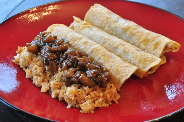 Moo Shu Pancakes and Szechuan Eggplant with Sesame-Fried Rice | Flickr ...