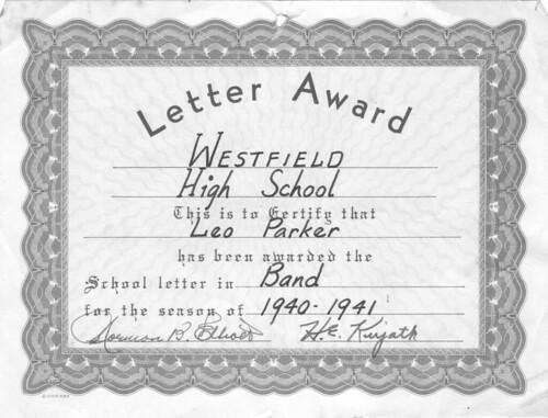 Leo Parker Band Letter 40-41