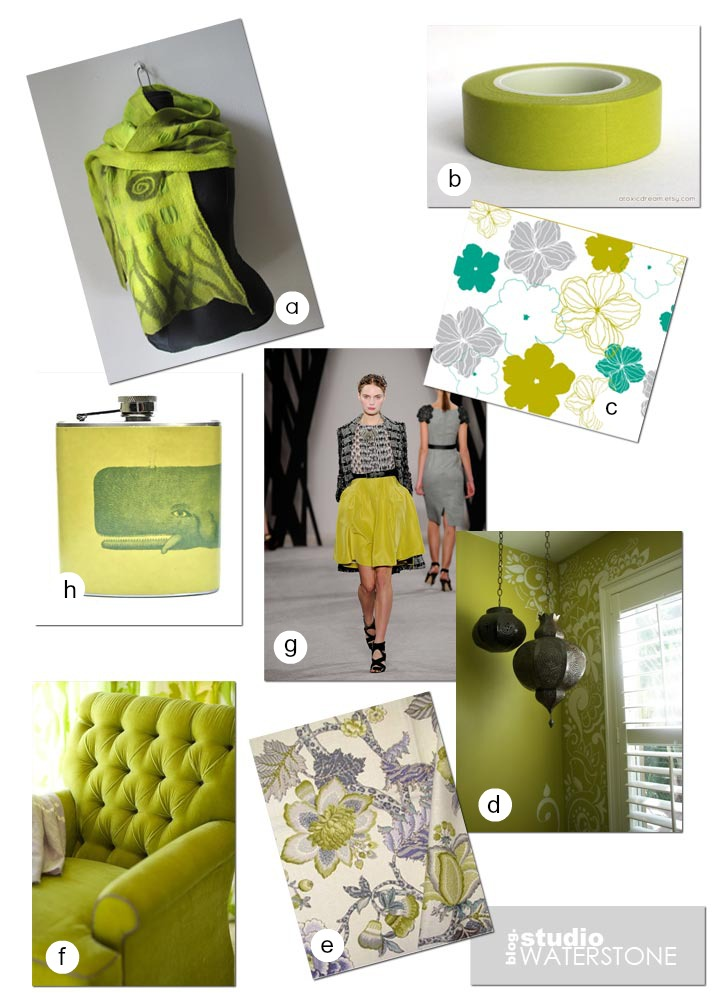 paint water color inspiration: chartreuse